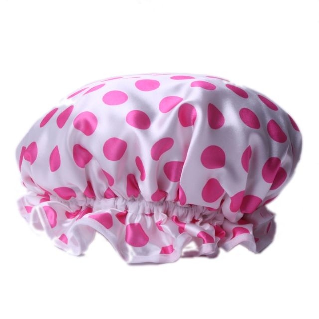 20619_Pink+Dots+Shower+Cap