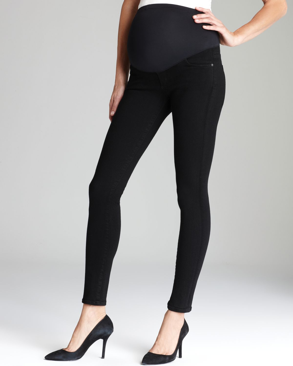 Best black skinny maternity jeans – Global fashion jeans collection